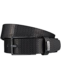 STRELLSON ceinture hommes ceinture en cuir noir