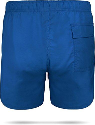 Badeshort Coastline Bermudashorts Badeshorts - schnelltrocknende Schwimmhose für Herren Männer Royal Blau