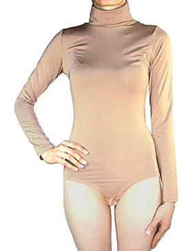 Muse–Body térmico elástico de manga larga y cuello alto para mujer, varias tallas y colores