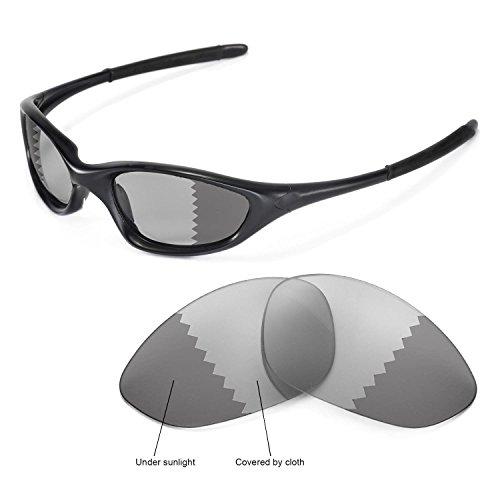 Walleva Ersatzgläser für Oakley XX/Old Twenty (Vor 2011 Version) Sonnenbrille - Mehrfache Optionen (Übergang/Photochromisch - Polarisiert)