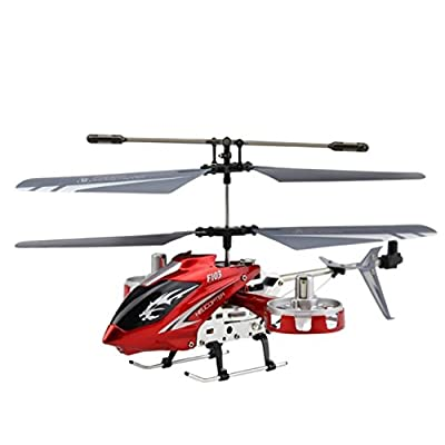 Moncare RC Remote Control Red Helicopter Gift Toys For Kid Adult