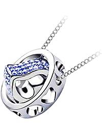 56742d4a1229 Amazon.es  Corazón Azul - Collares y colgantes   Bisutería barata ...