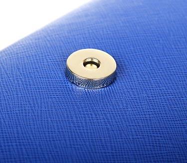 Frizione Moda per le Donne - Borsetta Borsa Tracolla con Cinghia di Metallo Borsa Busta Borsa Crossbody - Nero Blu