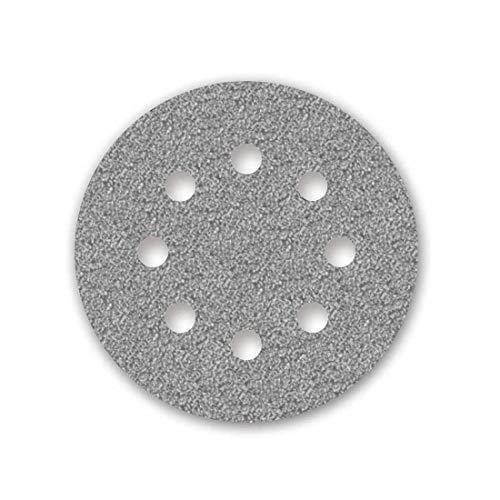 MENZER Platinum Klett-Schleifscheiben, 125 mm, 8-Loch, Korn 40, f. Exzenterschleifer, Halbedelkorund (50 Stk.)