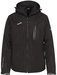 IZAS Chaqueta Naluns chaqueta acolchada con capucha, hombre, color negro, tamaño XXXXXXL