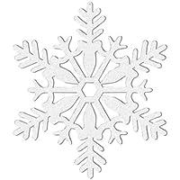 "White Glitter Snowflake Christmas Decorations 4"" x 4"