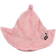 Hosaire 1x Invierno Niño Niña Sombreros Hecho Lindo Forma Puntiaguda Bebé  Gorra de Algodón Cálido para 5174de78e35