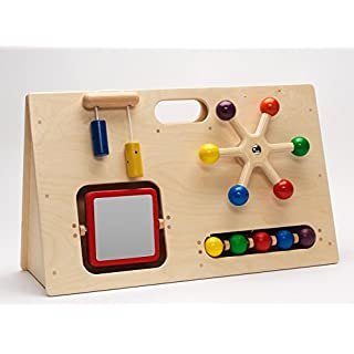 Alphabet Educational Supplies Small Wooden Activity Centre- Sensory Toy- E0002