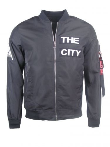 "Light Bomberjacket ""THE CITY"" - schwarz"