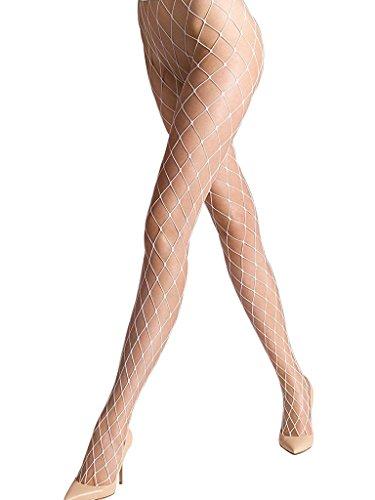 Ypser Damen Netzstrumpfhose weiß