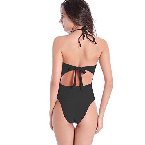 BOYANN Costumi Interi da Bagno per Donna Taglie Forti Controllo Della Pancia Nero