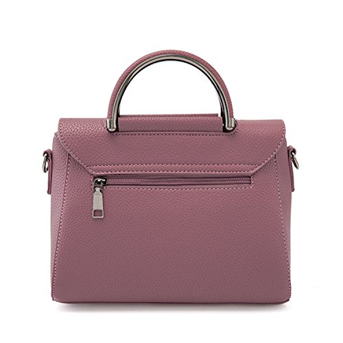 Azbro Women's PU Leather Cross Body Shoulder Bag, Dark Pink One Size Burgundy