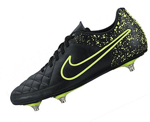 Nike Tiempo Rio Ii Sg, Scarpe da Calcio Uomo Nero / Nero / Verde (Nero / Nero-Volt)