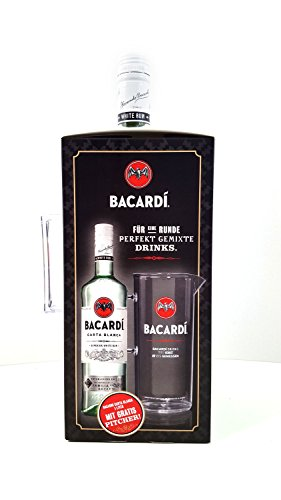 Bacardi Set - Carta Blanca 1L (37,5% Vol) + Pitcher