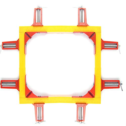 ANGGO 4PCS 90 Grad rechtwinklig Clamp, Bilderrahmenhalter, Glashalter, DIY Holzbearbeitungshalter, Corner Clamp Tools für Schreiner, Schweißen, Engineering (Schweißen Engineering)