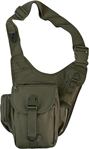 Multifunktions Schulter Umhängetasche mit vielen Fächern Farbe Oliv (Schulter Tasche)