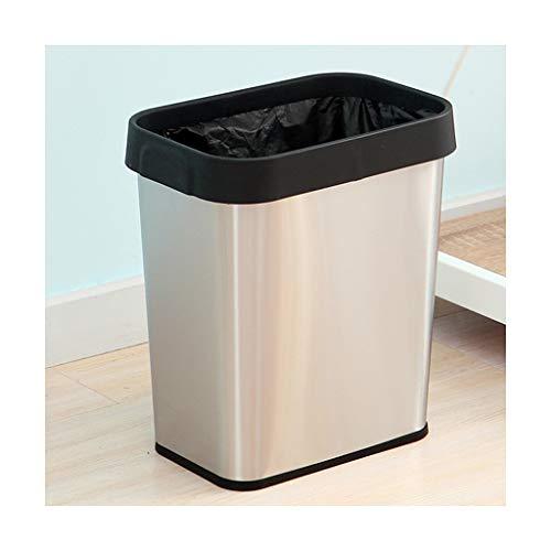 Mülleimer Abfalleimer Edelstahl Kleine Badezimmer Küche Home Office Durable Coverless Trash can