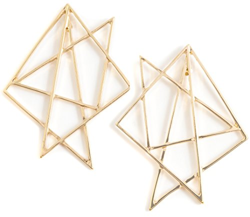 amen Stern Ohrringe in Goldfarbe | Statement Ohrringe Abstrakte Geometrische Formen ()