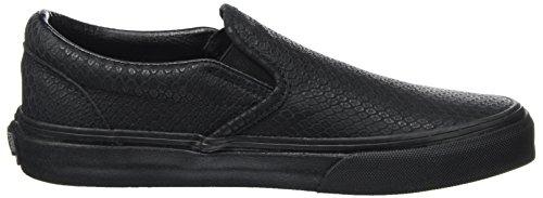 VANS - CLASSIC SLIP ON - snake leather black Nero