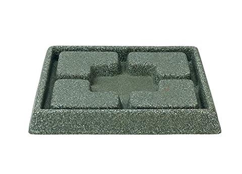 Stewart 5135063 21 cm Square Decorative Saucer - Marble Green