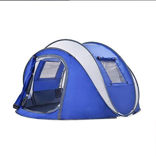 ZA Automatisches schnelles aufbauendes Familien-kampierendes Starkes regensicheres Zelt im Freien, 3-4 Personen, die Belüftungszelt, EIN Raum-Zelt Falten (Farbe : Blau)