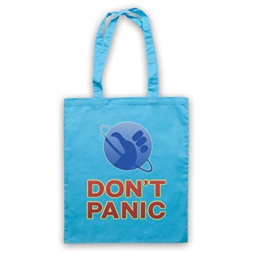 Inspiriert durch Hitchhikers Guide To The Galaxy Don't Panic Inoffiziell Umhangetaschen Hellblau