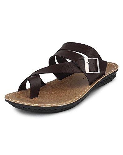 Columbus 2701 Lightweight Men's Sandals (7 UK, Brown)  available at amazon for Rs.449