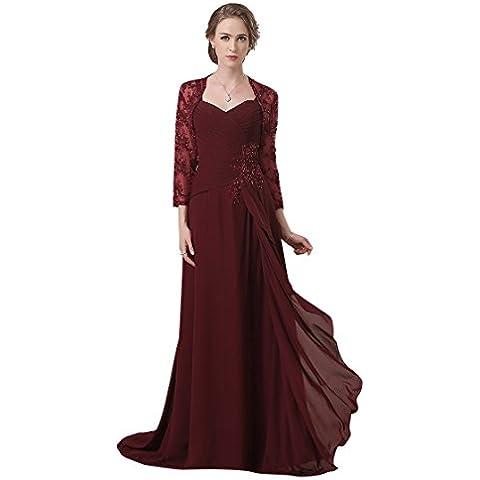 Adasbridal-vestidos de madre de novia de Elegante gasa de escote corazon de completo de longitud A-