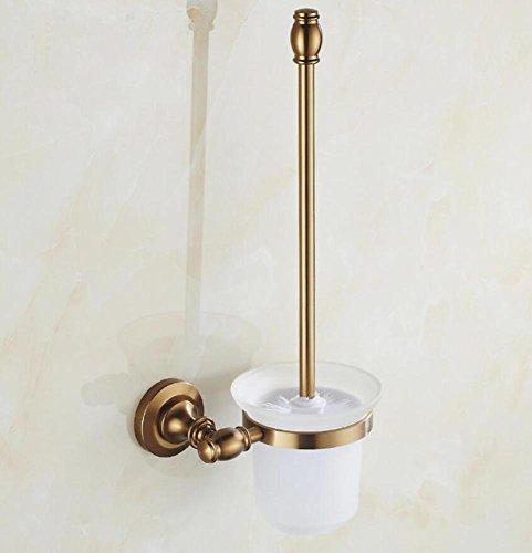 SPOLY Brosse Toilettes WC Set de Brosse de Toilette rétro, kit de Cuvette de Toilette en Aluminium et Meuble en Aluminium Brosses de Toilette et titulaires Pendentif de Salle de Bains