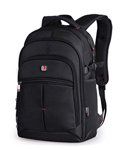 Unisex Oxford Cloth Wasserdicht 15,6-Zoll-Laptop-Rucksack Outdoor Travel Backpack (schwarz)
