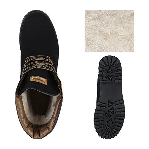 Bootparadies Donna Stivaletti Stivali Da Lavoro Caldo Foderato Flandell Nero Bexhill