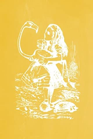 Alice in Wonderland Pastel Chalkboard Journal - Alice and The Flamingo (Yellow): 100 page 6