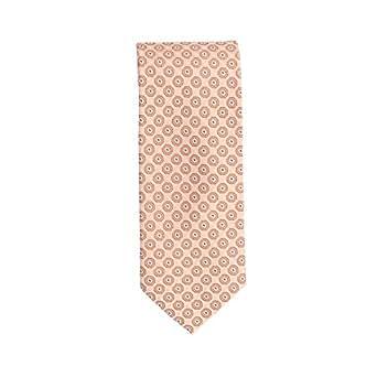 Silk classico cravatta seta arancione modello di cerchio 8,5 cm