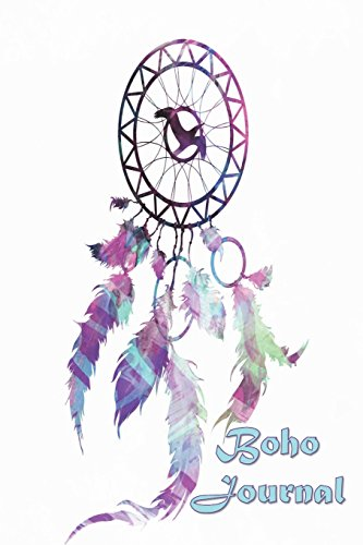 Boho Journal: 140 Lined Pages Softcover Notes Diary, Creative Writing, Class Notes, Composition Notebook - Purple Watercolor Dreamcatcher por Simple Planners and Journals