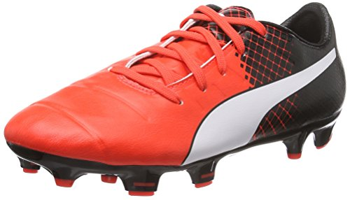 Puma evoPOWER 1.3 Tricks FG Jr, Chaussures de football mixte enfant Rouge - Rot (Red blast-puma white-puma Black 03)