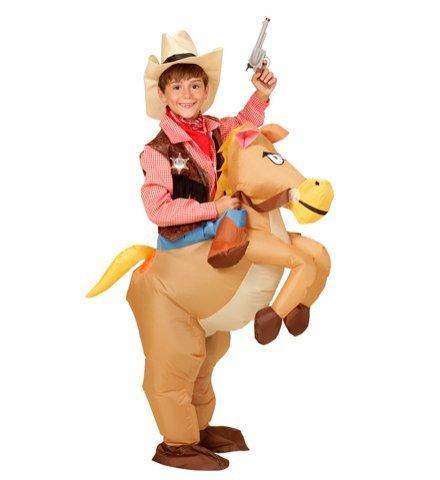 Aufblasbares Kinder Carry-me Huckepack Kostüm Wilder Westen Pferd Cowboy