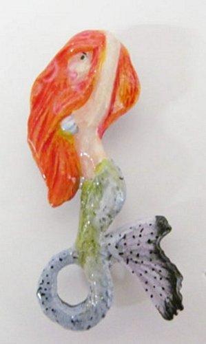 peint-a-la-main-premium-sirene-red-head-pins-epinglette-broche-ap102pra