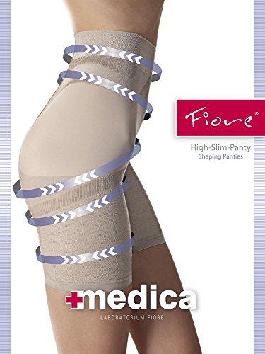 Fiore Luxus 60Denier Gestaltung und Abnehmen Shorts, erhältlich in Schwarz, Natur und Weiß Schwarz - Natural