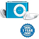 captcha Sports Shuffle Aluminium Metal Body MP3 Audio Music Player with TF Card Slot (Color May Vary, c-Ipod_Blue)