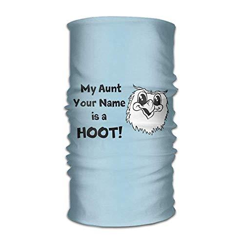 Wfispiy Magic Kopfbedeckung Owl My Aunt is A Hoot Outdoor Scarf Headbands Bandana Mask Neck Gaiter Head Wrap Mask Sweatband Neck Cool Wrap