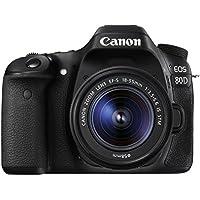 Canon EOS 80D Digital SLR Camera with 18-55 mm IS STM Lens - Black