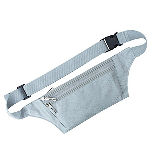 Vita-Borsa da viaggio Unisex da corsa Sport Pack Silver Gray
