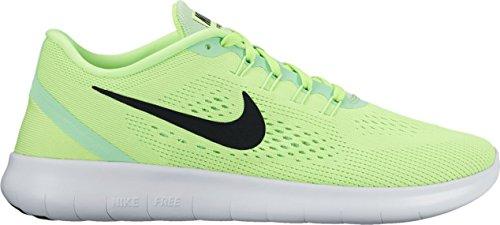Nike Damen Free Rn Laufschuhe Grn (Ghost Grn/Blk-Fresh MNT-Off Wht)
