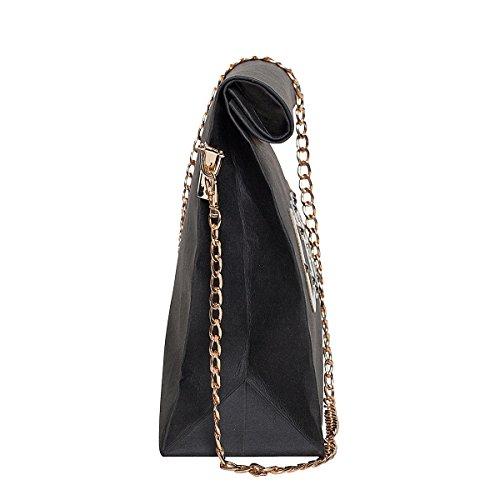 Zarapack , Pochettes femme - Black with Chain