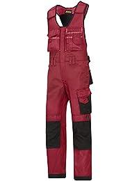 Snickers Workwear 312 - Mono, color chili-schwarz, talla 46