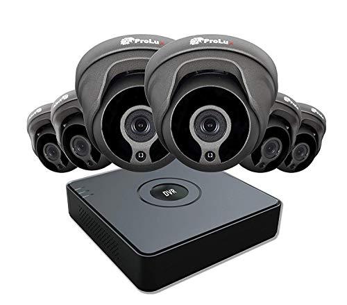 Prolux Hikvision Hiwatch 8-Kanal-Digital-Video-Recorder DVR-108G-F1 HiWatch Serie 1080P Lite IP mit Außen 8CH HD und 6x 2,4 Megapixeln (System mit 6 Kameras + 1TB HDD) Dvr-serie