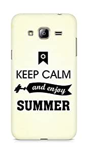 Amez Keey Calm and Enjoy Summer Back Cover For Samsung Galaxy J3