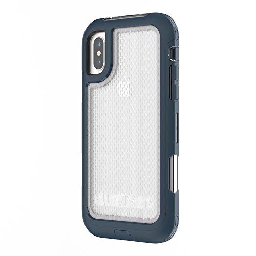 Griffin Survivor All Terrain Coque pour iPhone 5/5s/iPhone SE - Noir Bleu Pacifique Profond/Gris/Teintée