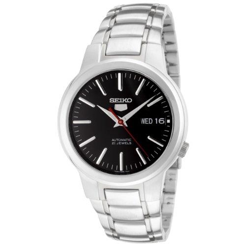 Seiko Herren-Armbanduhr XL Analog Automatik Edelstahl SNKA07K1