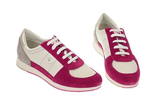 GeoxGeox Respira Avery Schnürschuhe in weiß pink - 2015 - Sneaker Donna Rosso (rosso)